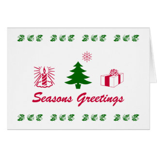 Signs of the Seasons Greetings Card