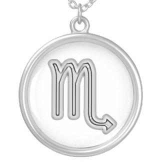Signs of the Zodiac, Scorpio Round Pendant Necklace