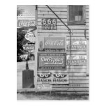 Signs on a General Store, 1938 Postcards
