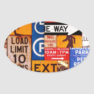 Signs Oval Sticker