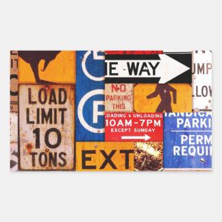 Signs Rectangular Sticker