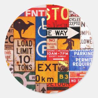 Signs Round Sticker