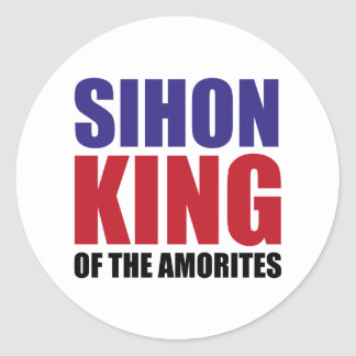 Sihon King of the Amorites Round Sticker