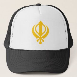 Sikh Khanda Gold Trucker Hat
