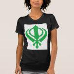 Sikh Khanda Green T Shirts