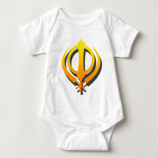 Sikh Khanda Khalsa Sikhism Punjabi Baby Bodysuit