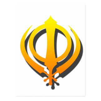 Sikh Khanda Khalsa Sikhism Punjabi Postcard