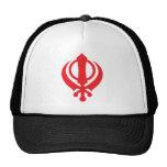 Sikh Khanda Red Trucker Hat