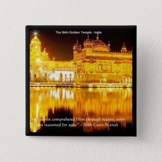 Sikh The Golden Temple In India Gifts & Tees 15 Cm Square Badge
