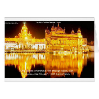 Sikh The Golden Temple In India Gifts & Tees Card