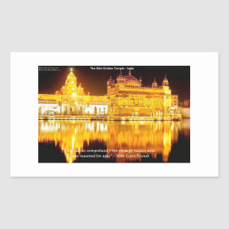 Sikh The Golden Temple In India Gifts & Tees Rectangular Sticker