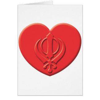 Sikhism Heart Card