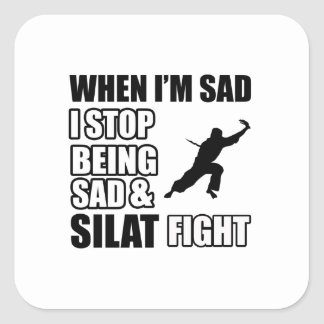 silat Martial Arts Gifts Square Sticker
