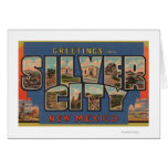 Silber City, New Mexico - Large Letter Scenes Greeting Card
