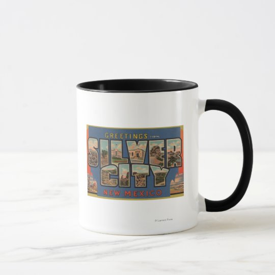 Silber City, New Mexico - Large Letter Scenes Mug