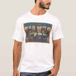 Silber City, New Mexico - Large Letter Scenes T-Shirt