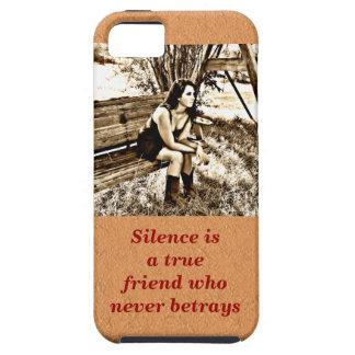 Silence a true friend tough iPhone 5 case