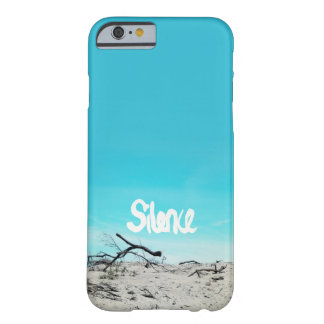 Silence beach winter quote blue barely there iPhone 6 case