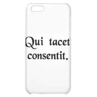 Silence gives consent iPhone 5C cover