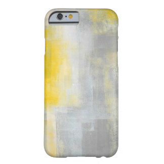 'Silence' Grey and Yellow Abstract Art Barely There iPhone 6 Case