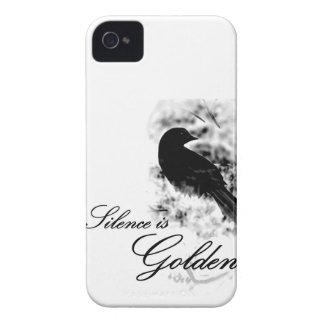 Silence is Golden - Black Bird Case-Mate iPhone 4 Case