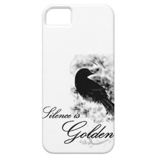 Silence is Golden - Black Bird iPhone 5 Case