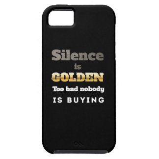 Silence is Golden iPhone 5/5S Case