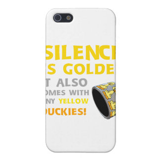 Silence Is Golden Rubber Ducky Duct Tape Humor Cover For iPhone 5