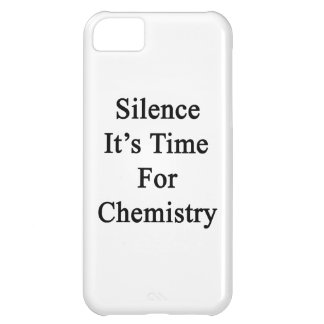 Silence It's Time For Chemistry iPhone 5C Cover