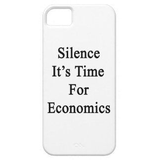 Silence It's Time For Economics iPhone 5 Cover