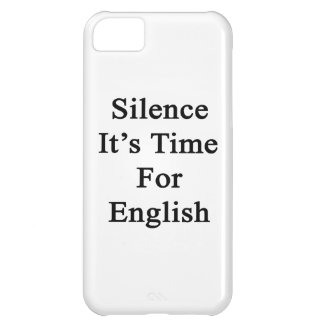Silence It's Time For English iPhone 5C Covers