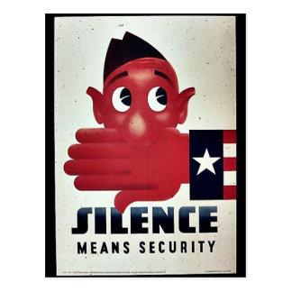 Silence Means Security Postcard