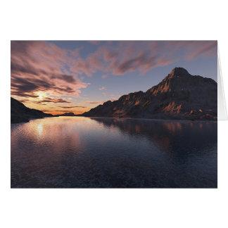 Silence of dusk greeting card