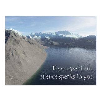 silence postcard