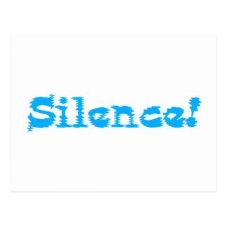 Silence! Postcards
