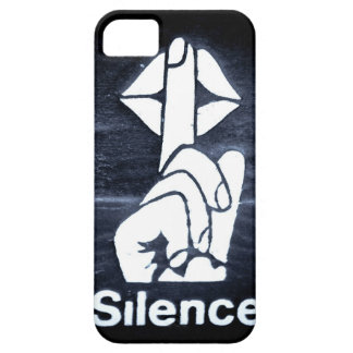 Silence sign on cover