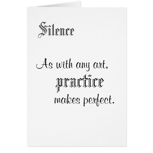 Silence Stationery Note Card