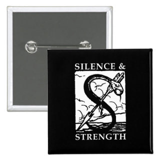 Silence & Strength Logo square button 2 Inch Square Button