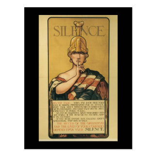 Silence World War II Postcard