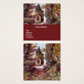 SILENT AUTUMN IN FLORENCE Brown Square Business Card