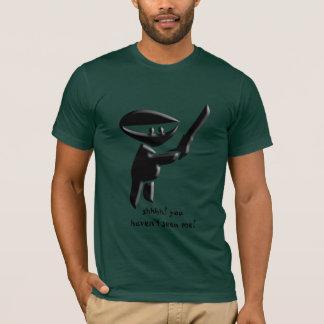 Silent black ninja assassin, armed and dangerous T-Shirt