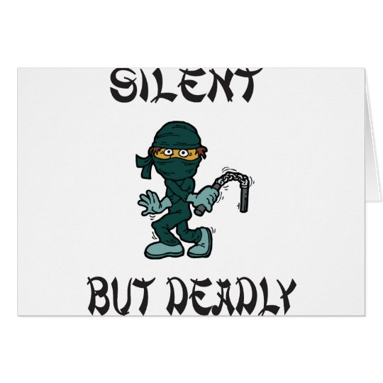 silent but deadly Ninja Fart Greeting Card