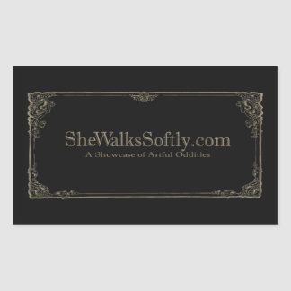Silent Film Gray Rectangular Sticker