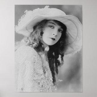 Silent Film Star Lillian Gish Poster