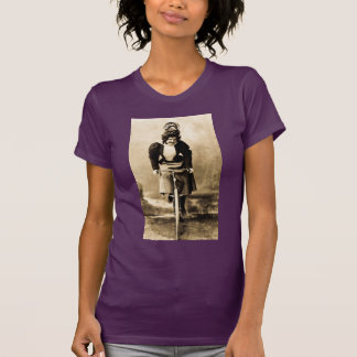 Silent Film Star Madge Lessing on Bike Vintage T-Shirt