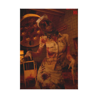 Silent Hill Nurse Stretched Canvas Print