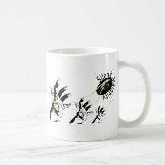 silent majority black basic white mug