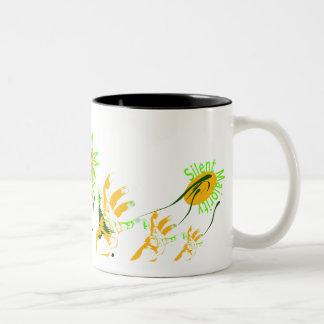 silent majority yellow Two-Tone mug