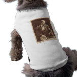 Silent movie actor Robert Warwick with pup bull Dog Tee