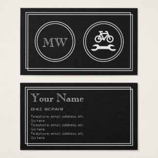 """Silent Movie"" Bike Repair Business Cards"
